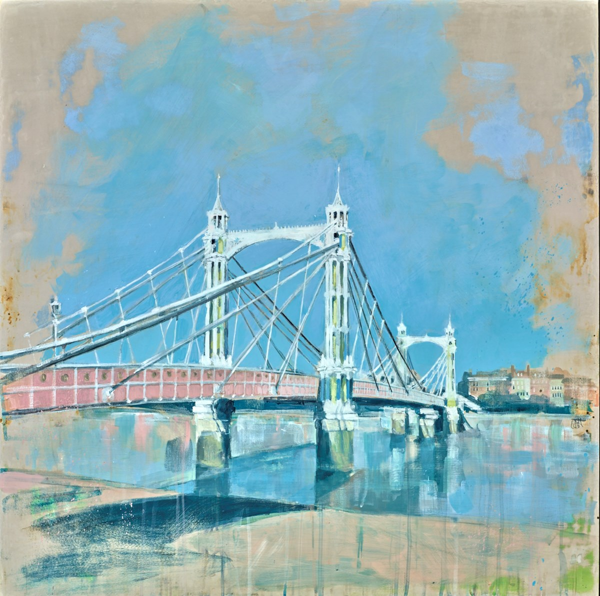 Albert Bridge II by camilla dowse -  sized 30x30 inches. Available from Whitewall Galleries